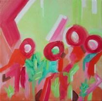 """On the Patio, 10 x 10"""" acrylic on canvas, 2013"""