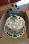 60th Exploding Star Cake