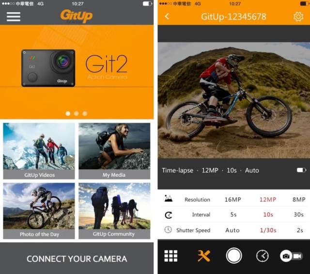 apps cámaras deportivas gitup git 2