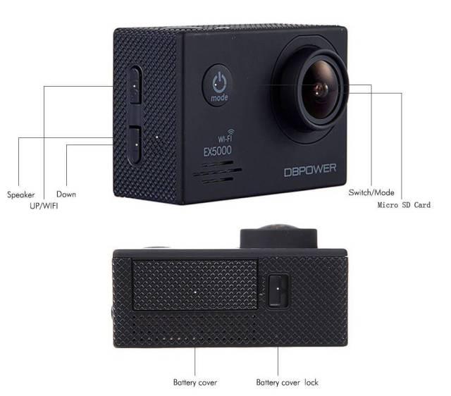 cámaras deportivas más vendidas en abril dbpower