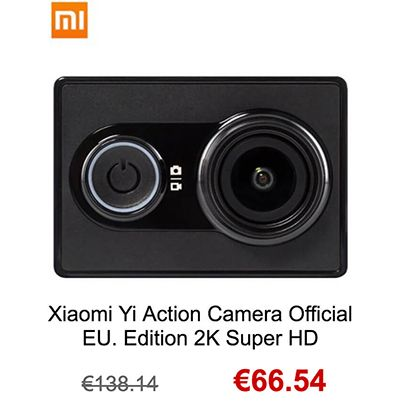 Ofertas Cámaras Deportivas Black Friday xiaomi yi action camera 2k