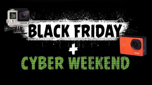 ofertas cámaras deportivas black friday y cyber weekend