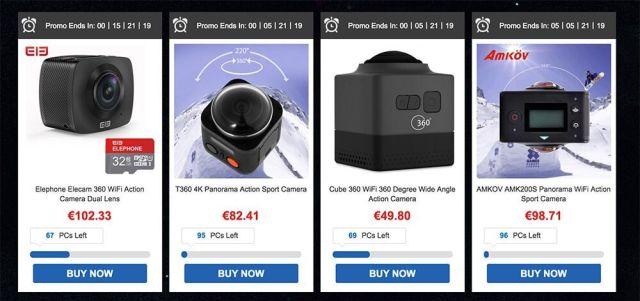 ofertas navidad gearbest cámaras 360