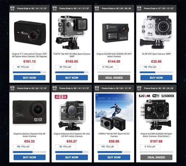 promoción cámaras deportivas navidad gearbest