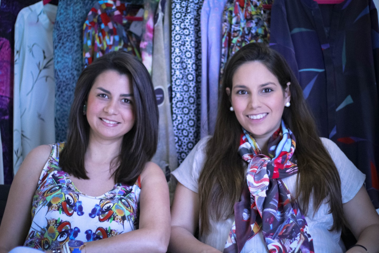 Claudia and Flavia Giardinella founders of wearable art online boutique Artteca
