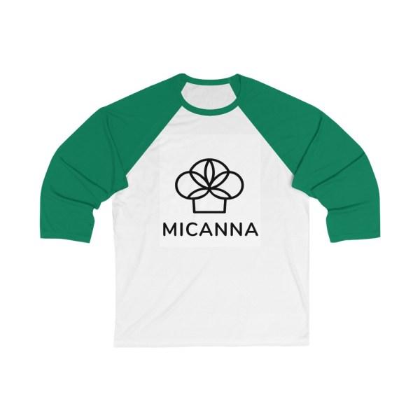 Micanna Unisex Baseball Tee - Green