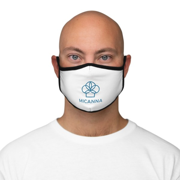 Man wearing Micanna Fitted Polyester Face Mask Front View