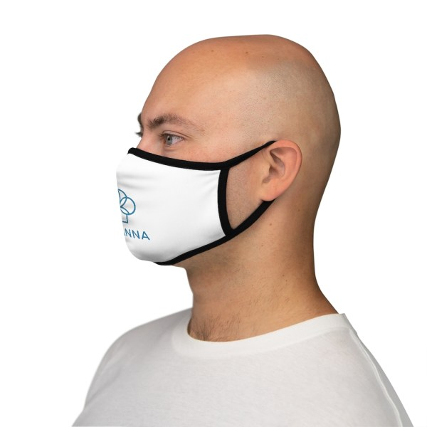 Man wearing Micanna Fitted Polyester Face Mask Side View