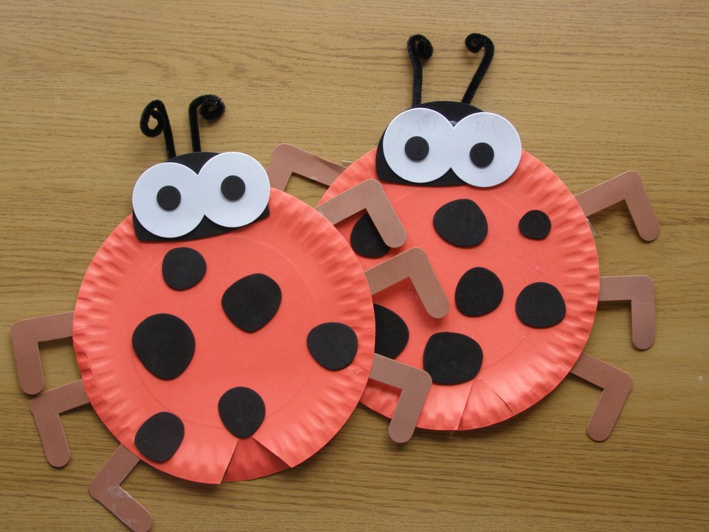 April Crafts About Spring And Insects