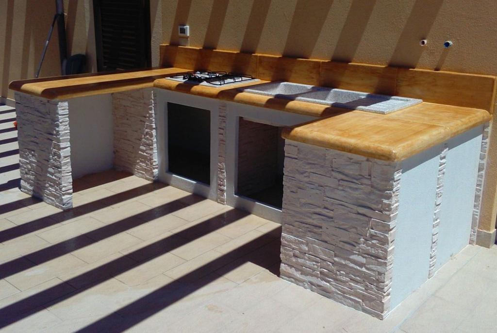 cucina prefabbricata da esterno mod ouk14  Miccich  Architetture da Giardino