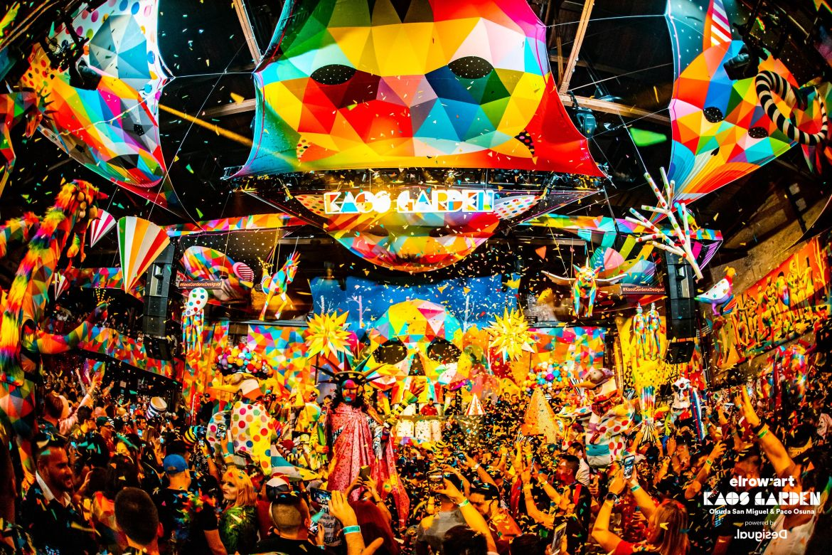 Elrow'Art Transformed Brooklyn's Avant Gardner Into a Kaos Garden