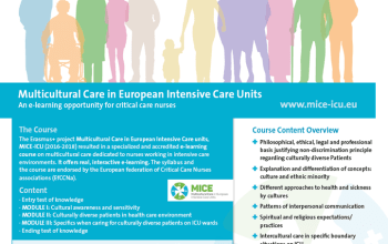 The e-learning course on Multicultural Care in European ICUs