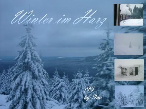 Winter im Harz Bastelbilder vom Brocken
