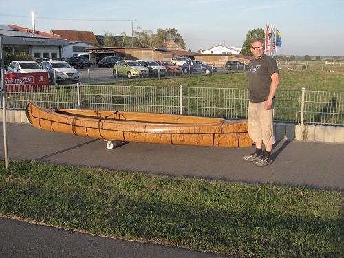 Rolling Home mit dem selbstgebastelten Kanuwägelchen