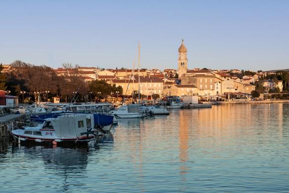 Insel Krk, Krk im Abendlicht, Kroatien