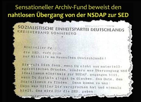 SED war direkte Nachfolgerin der NSDAP