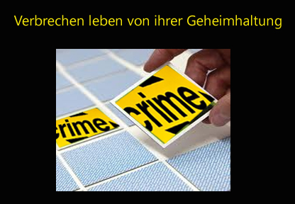 Verbrechen Geheimhaltung