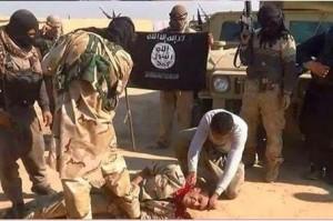 isis beheading iraqi soldier