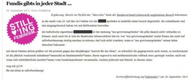 Antifa Berlin Angriff gg apotheke