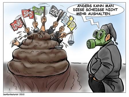 politische scheisse karikatur