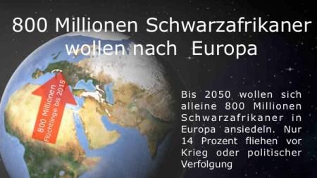 800 Mio Afrikaner wollen nach E