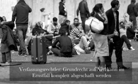 Asylrecht kann abgeschafft werden