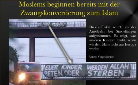 Autobahnplakat Islam