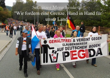 Sebnitz Menschenkette 10-2015