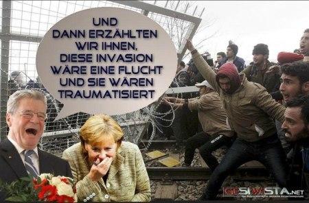 Gauck-Merkel satire