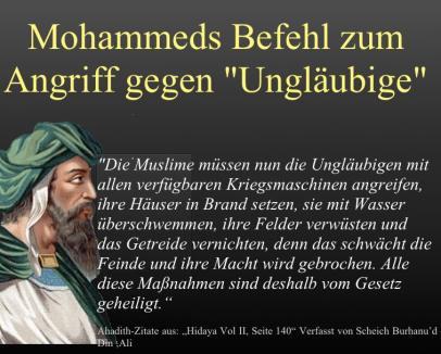 Mohammed 2angriff gegen Unglaeubige