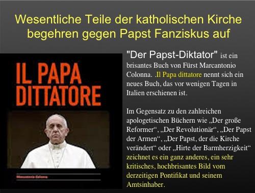 Vatikan: Auftand einer Gruppe von Kardinälen gegen Willkür-Herrschaft und inakzeptable Politik durch Papst Franziskus
