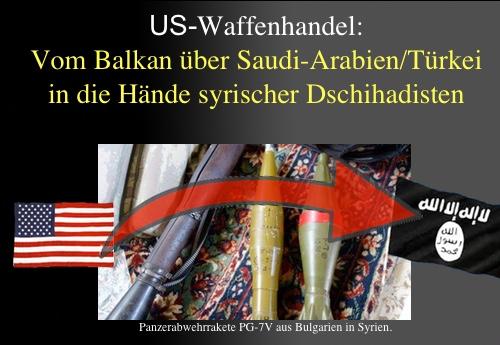 Von den USA eingefädelt: Waffenlieferungen vom Balkan an den IS über Saudi-Arabien