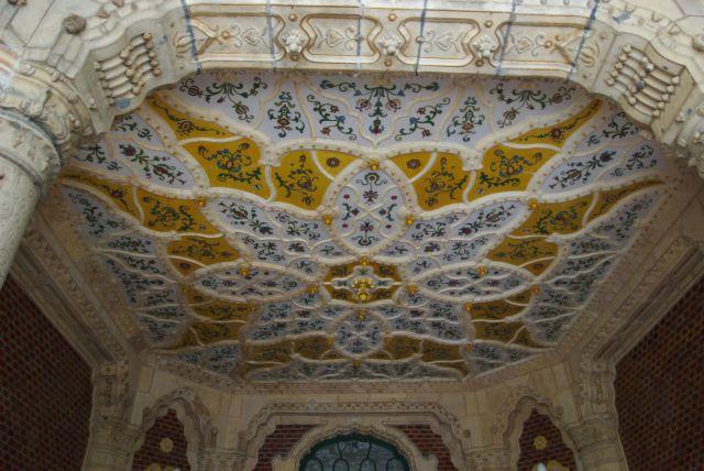 Музей прикладного искусства, потолок над крыльцом