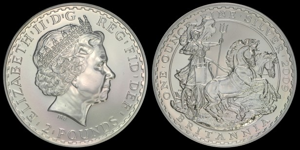 2009. 'Britannia in Chariot.' PCGS MS69 Acquired: 11 MAR 2009