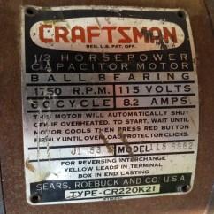 Capacitor Start Motor Wiring Diagram Craftsman Drawing 103 23141 100 Series Drill Press Restoration Part 1 The 2 Hp Original 115 6962 Model Made By Packard