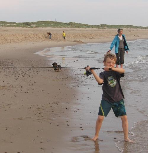 Floh beim fischen