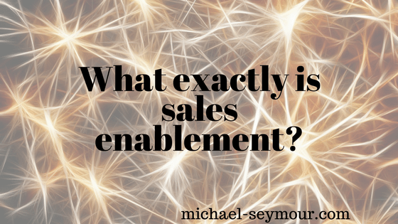 What actually is sales enablement