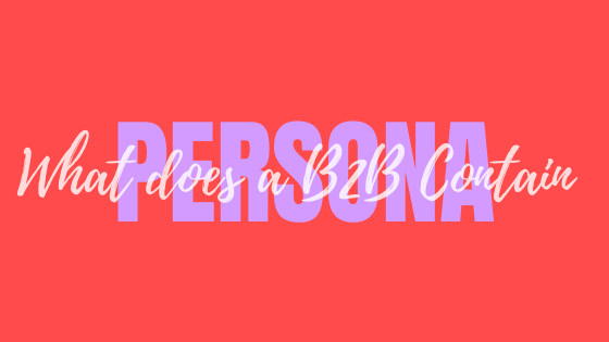 What does a B2B Persona Contain?