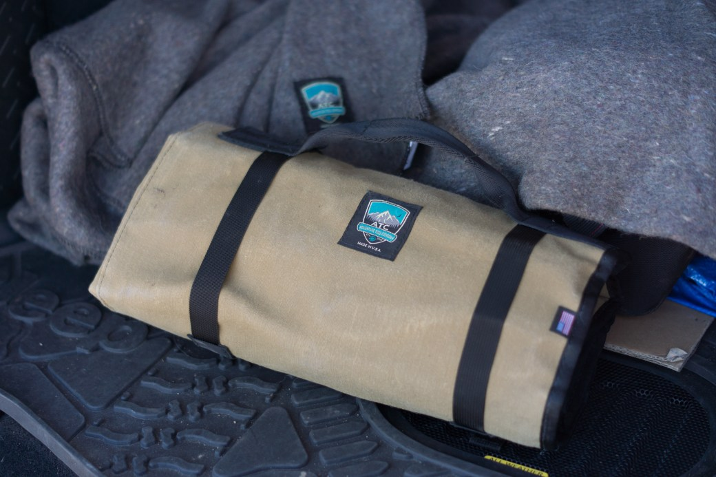 tool roll and blanket