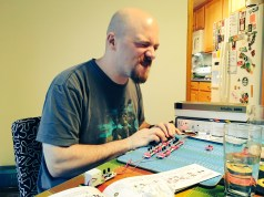My uncle rocking out on Littlebits