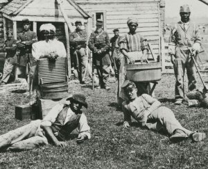 Group of contrabands at Allen's farm house near Williamsburg Road
