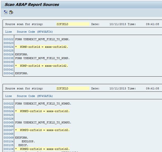 SAP: Finding text strings across ABAP programs - Michael