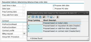 Configuration of the Default Sales Order Pricing Date