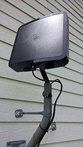 An HDTV OTA antenna where my DirecTV dish once was.