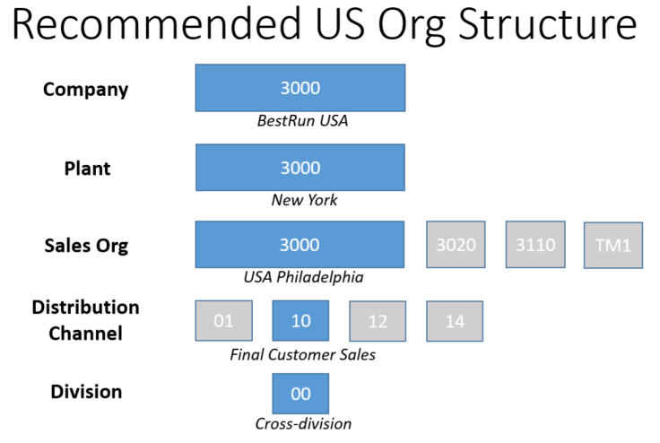 SAP IDES US Structure