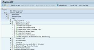 SAP IMG SD Line Items