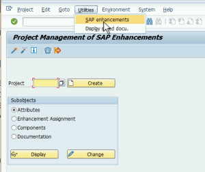 SAP Transaction CMOD
