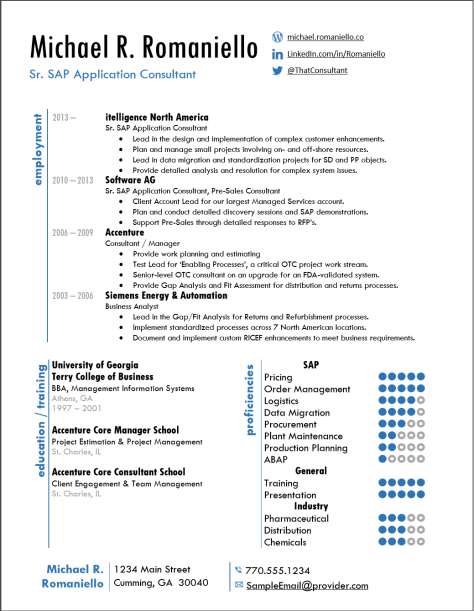 SAP Sample Resume 1