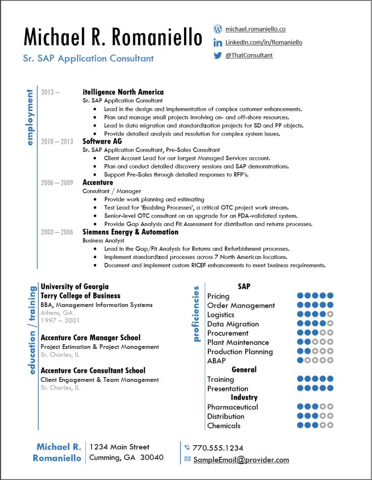 SAP Sample Resume 1