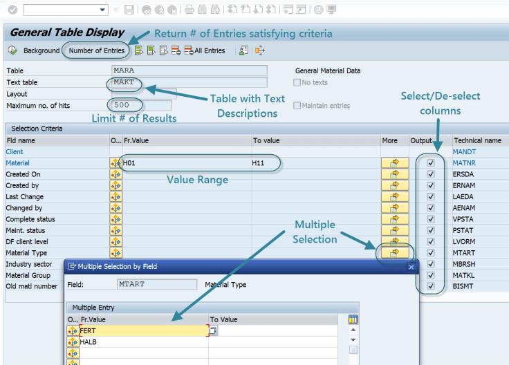 SE16n:  Selection Screen